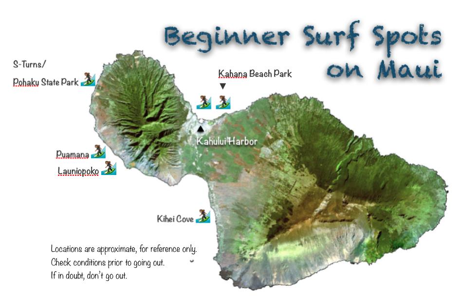 Beginner surf spots on maui maui surfer girls sciox Gallery