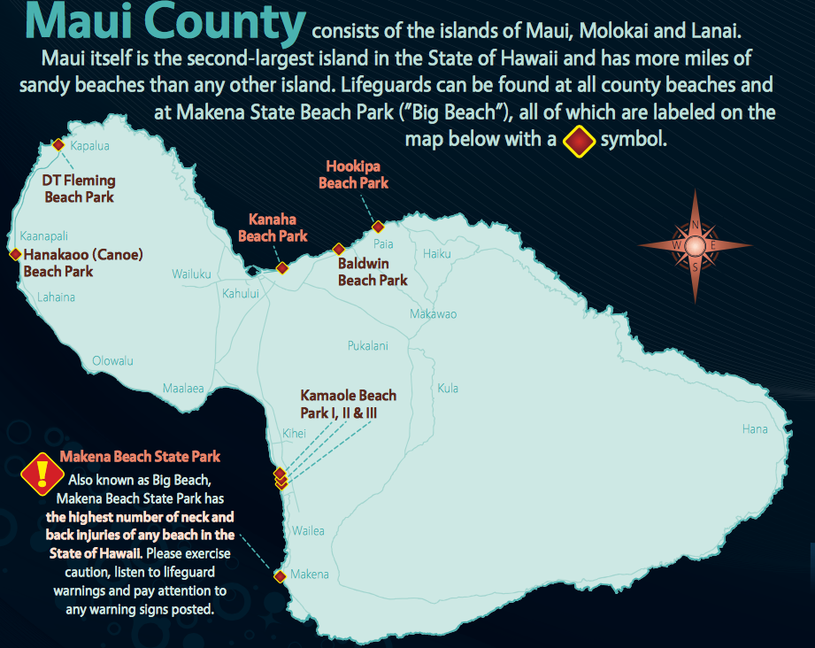 Maui Lifeguard Locations | best place to learn to surf