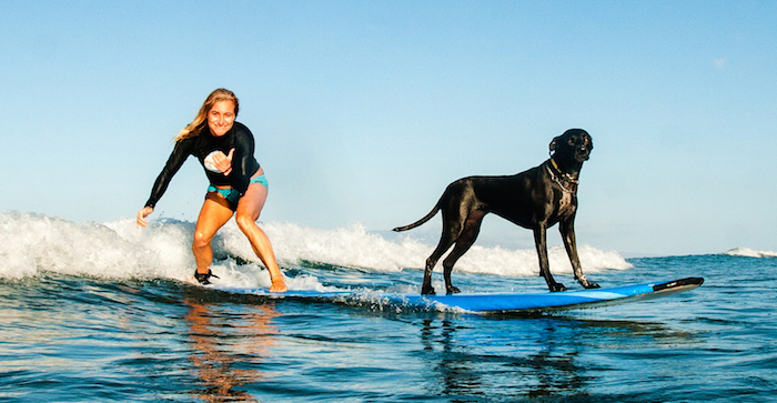 Dustin and her surfing dog Luna will make all the campers feel welcomed instantly! summer surf camp