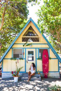 women's surf camp  cabin at camp olowalu