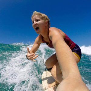 Lucy Woodward Maui Surf Instructor of the Month