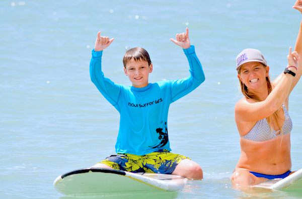maui surf lessons for kids Lucy Woodward