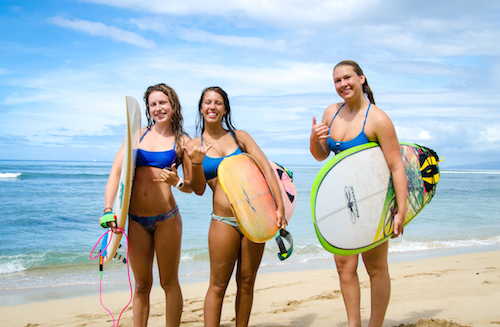 maui surfer girls | teen girls camp
