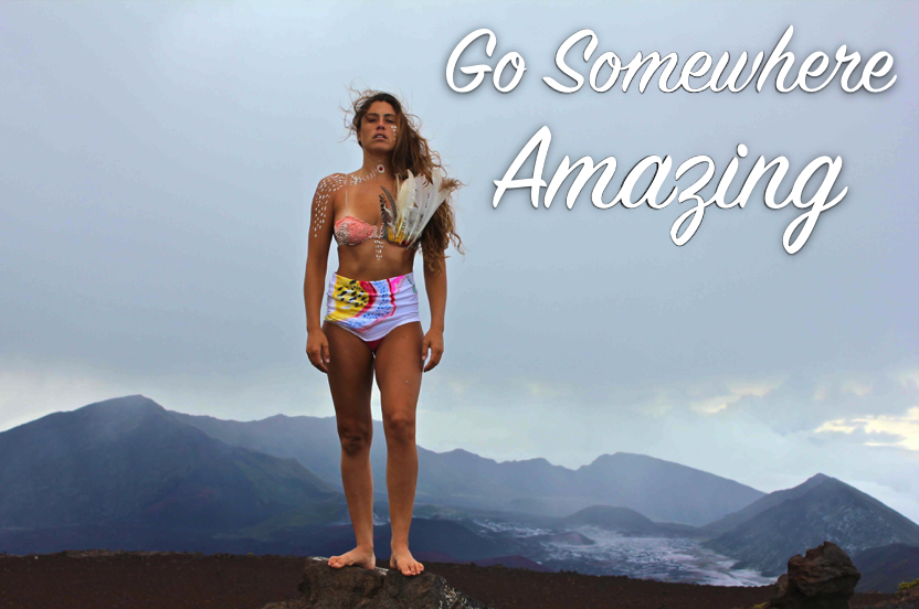 New Years Resolution -go somewhere amazing - Kelly Potts - Surfer Girl