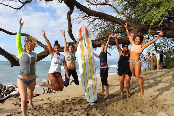maui surf coach Kiki