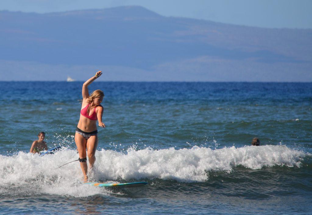 Lucy surf lesson maui