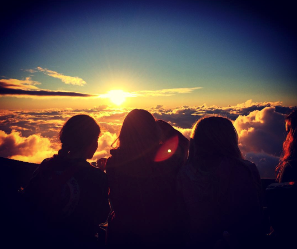 girls camp haleakala maui sunset watch