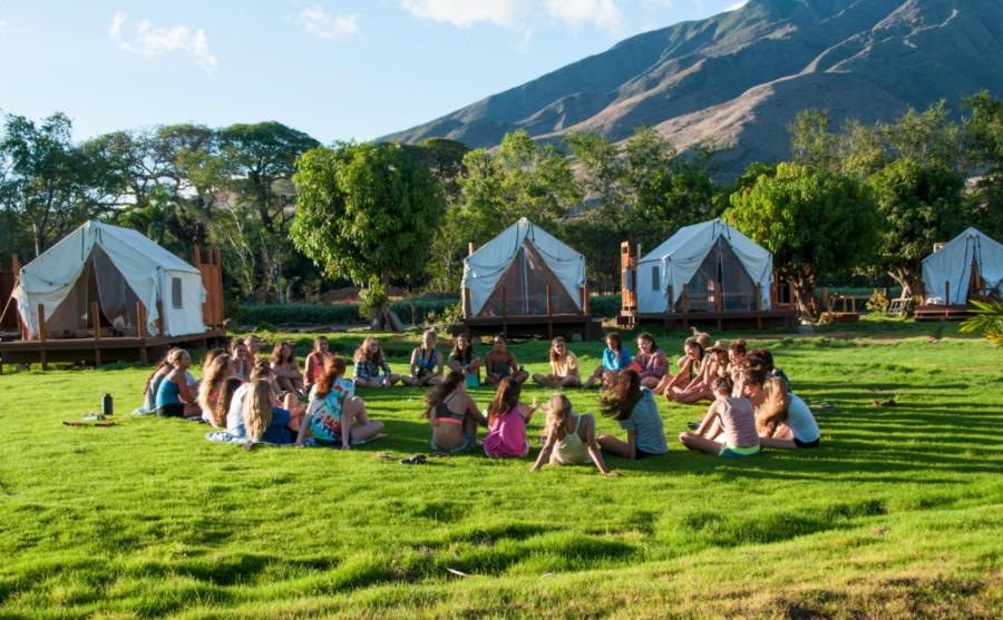 camp Olowalu tent camping maui