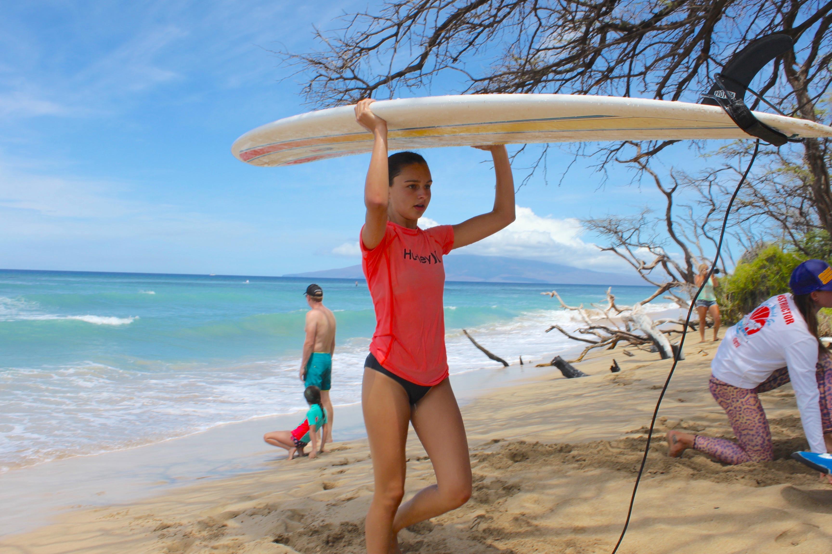 Surf board titts teen
