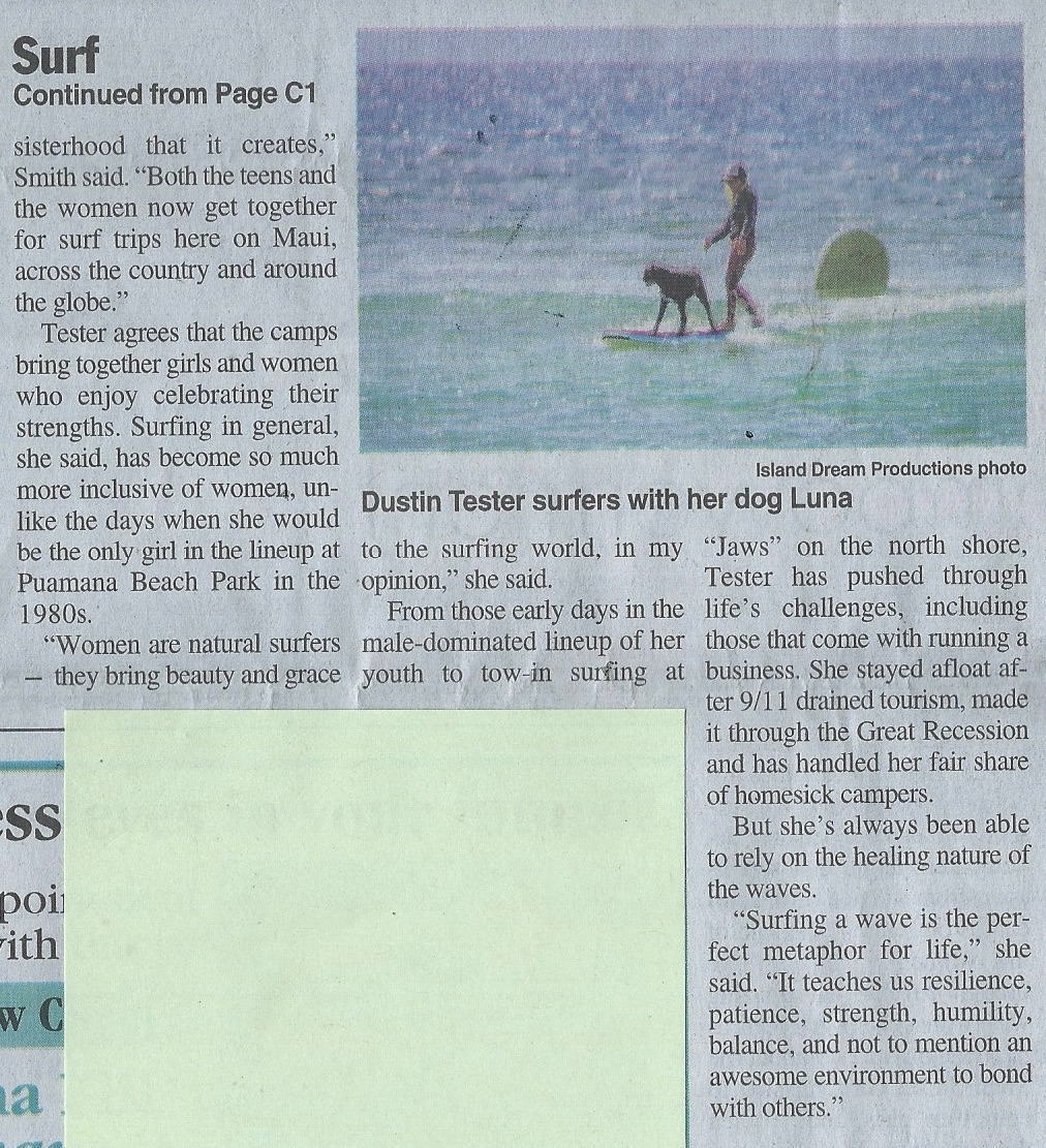 maui surfer girls maui news article