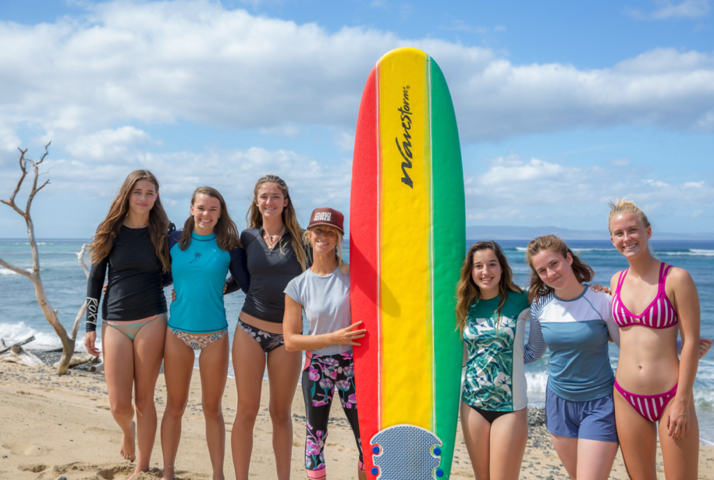 natalie starr and her surf pod natalie starr surf instructor Maui girl surf camp