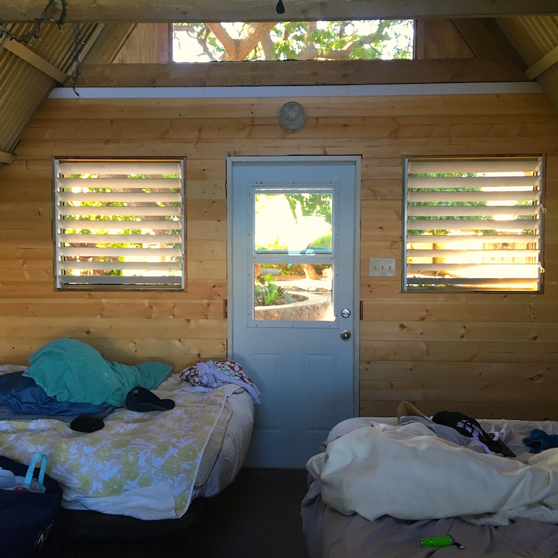 inside the cabin camp olowalu