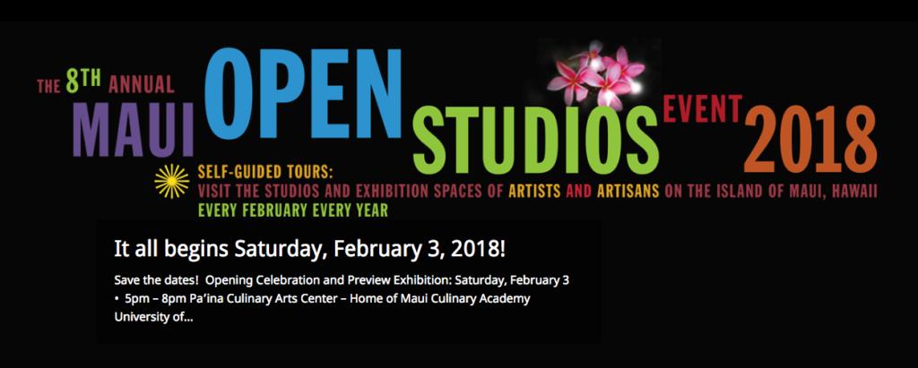 Maui Open Studios 2018 Maui Events 2018