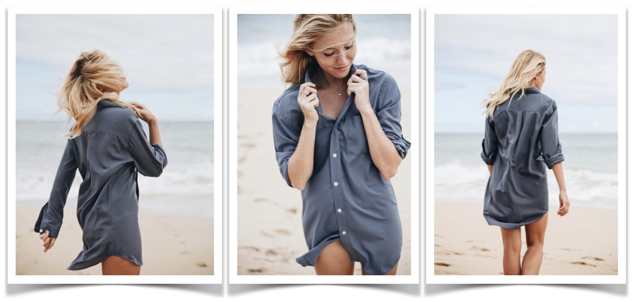 b3e4d50253 Boyfriend Beach Shirt - Maui Surfer Girls