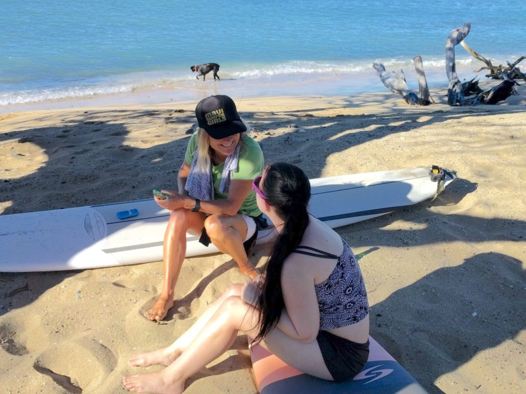 maui surf lesson for autism and special needs surf lessons maui autism