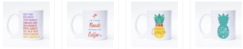 salty pineapple mug Hawaii mug caribbean mug tropical mug