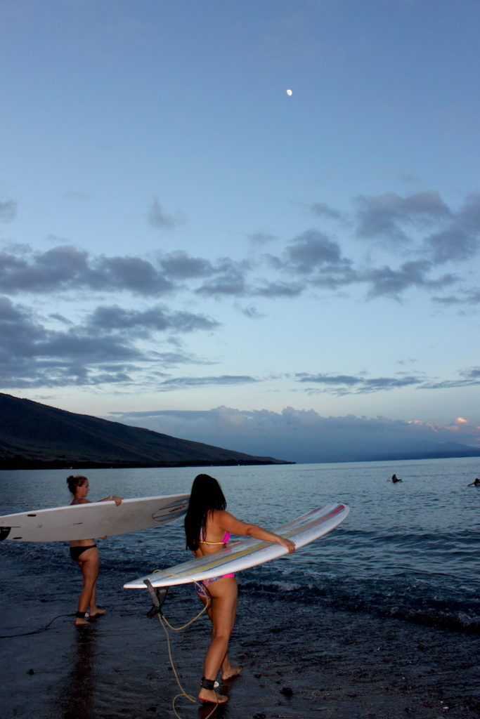 moonlight winter surf camp maui women's surf camp