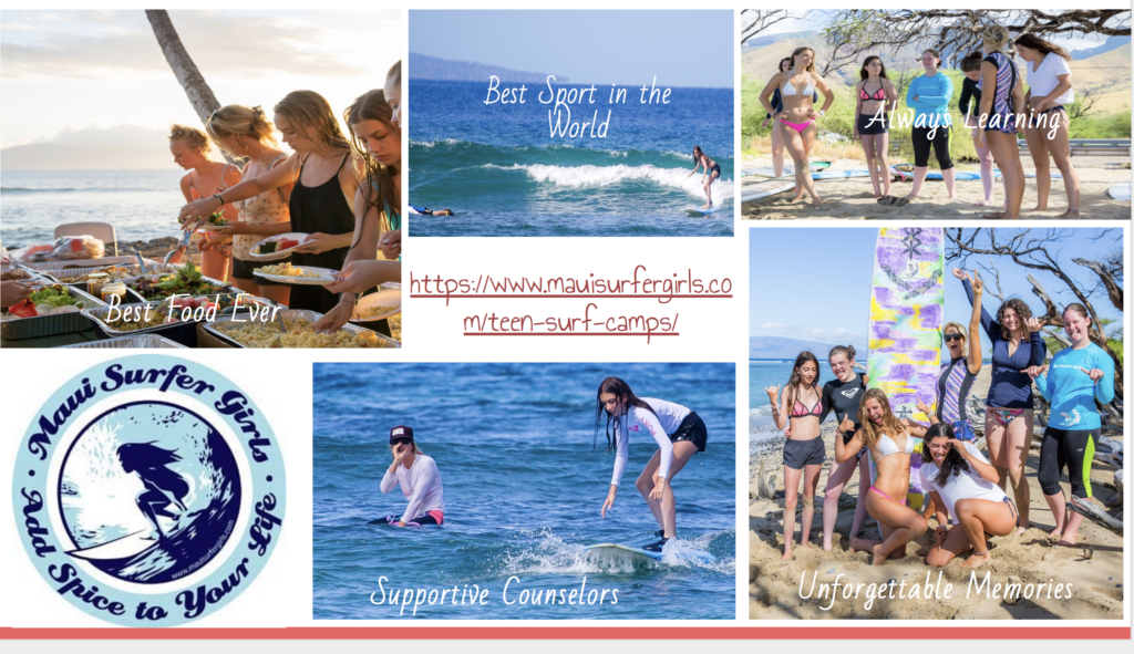 maui summer camp collage
