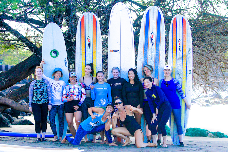 January Winter Women's Surf Camp Class Photo