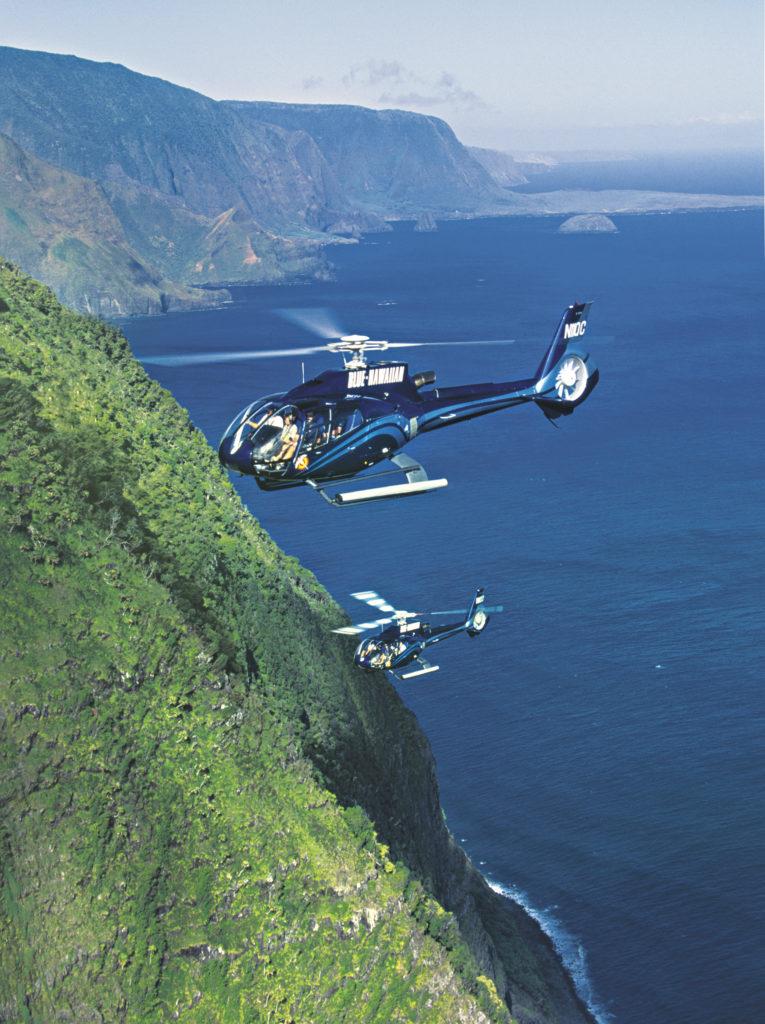 molokai blue Hawaiian helicopters
