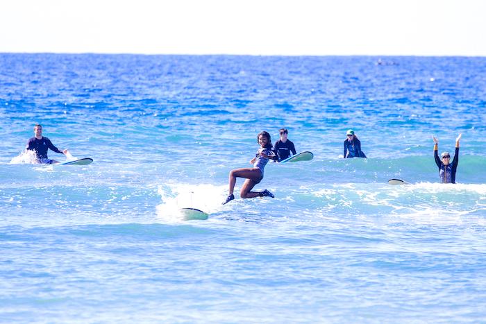black surfer girl Hawaii