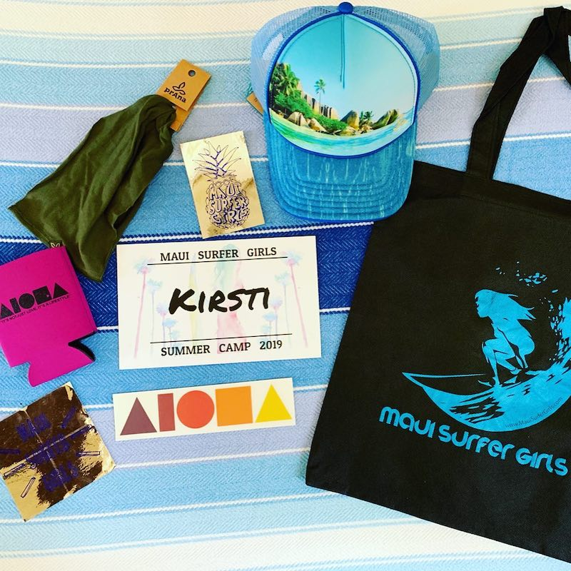 surf camp welcome bag items