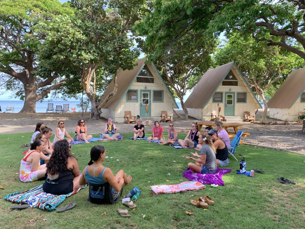 surf camp experience opening circle