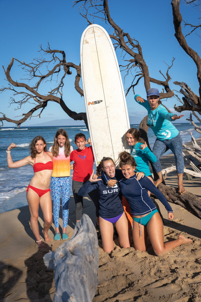 maui surf coach Carole