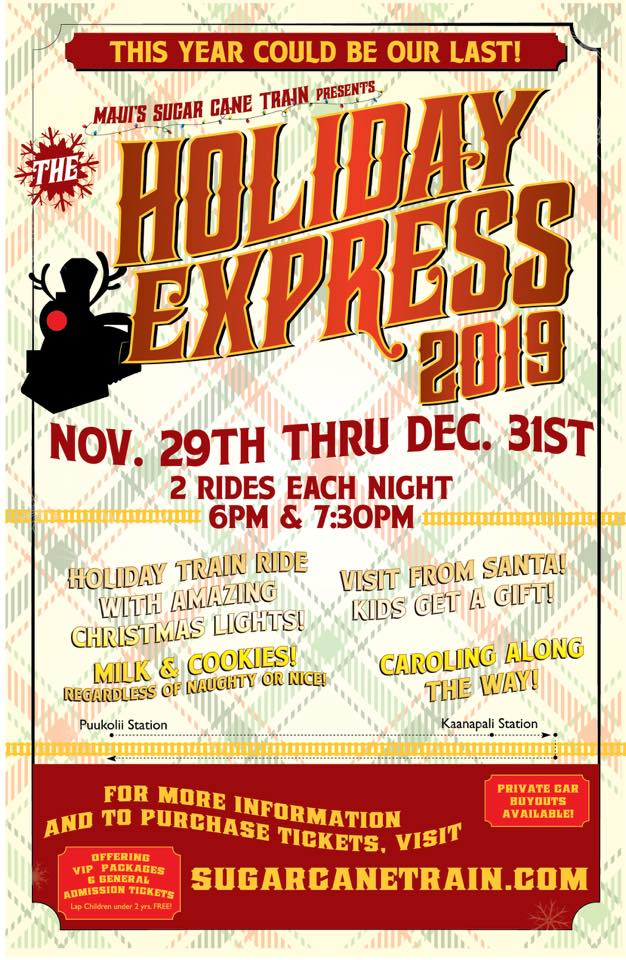 maui holiday express sugar cane train 2019